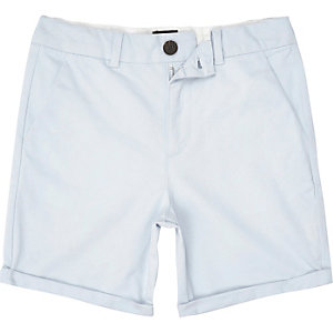 Blaue, elegante Slim Fit Chinoshorts