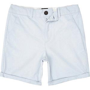 Boys blue slim smart chino shorts