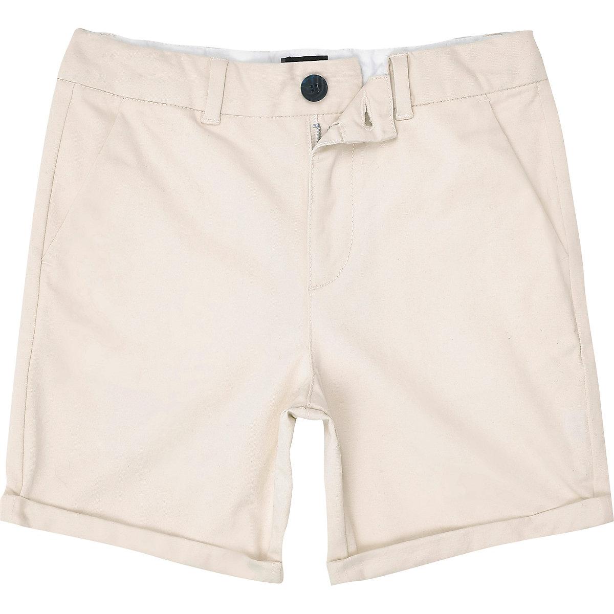 Boys stone slim fit smart chino shorts