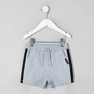 Mini boys blue tape straight shorts