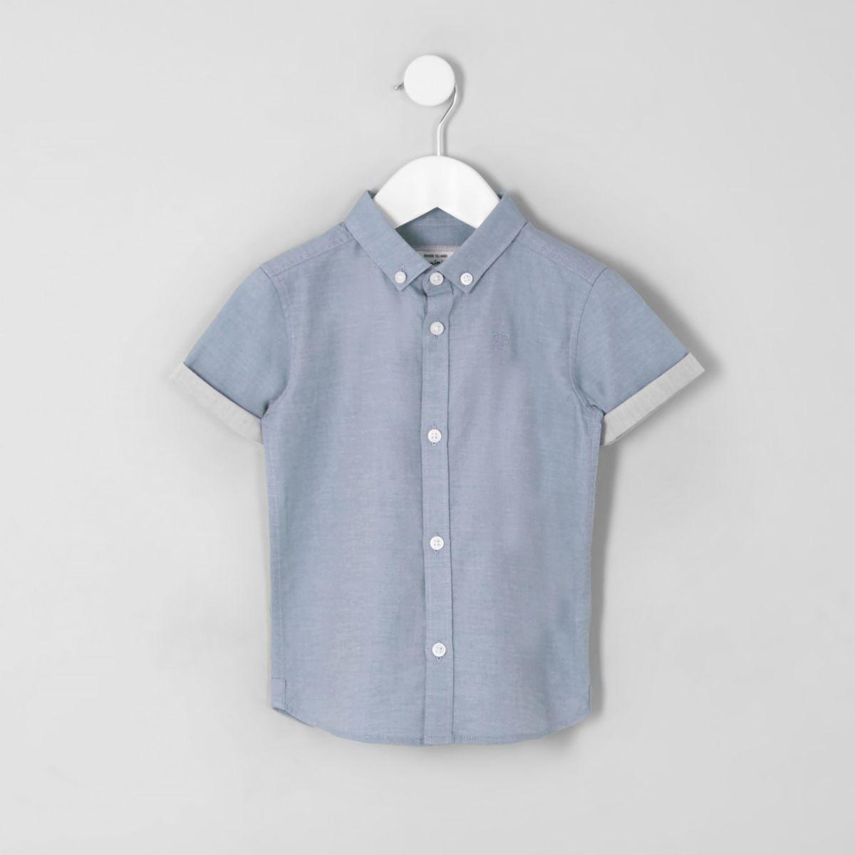 Mini boys blue RI short sleeve shirt