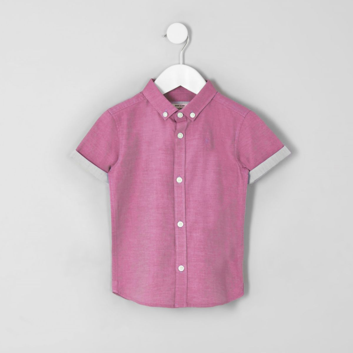 Mini boys pink RI short sleeve shirt