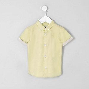 Chemise RI jaune à manches courtes mini garçon