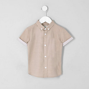 Mini boys light pink RI short sleeve shirt
