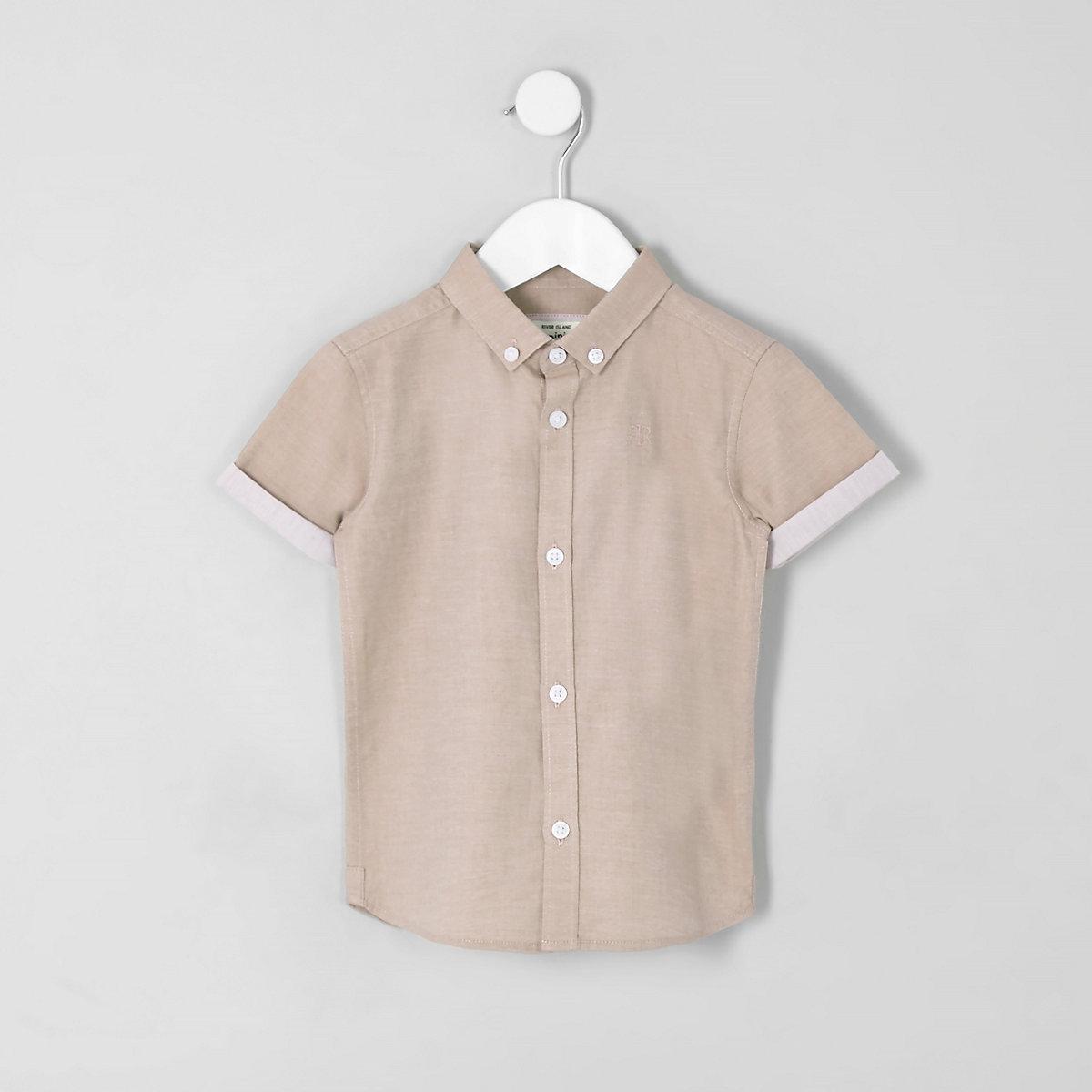 Mini boys light pink RI short sleeve shirt