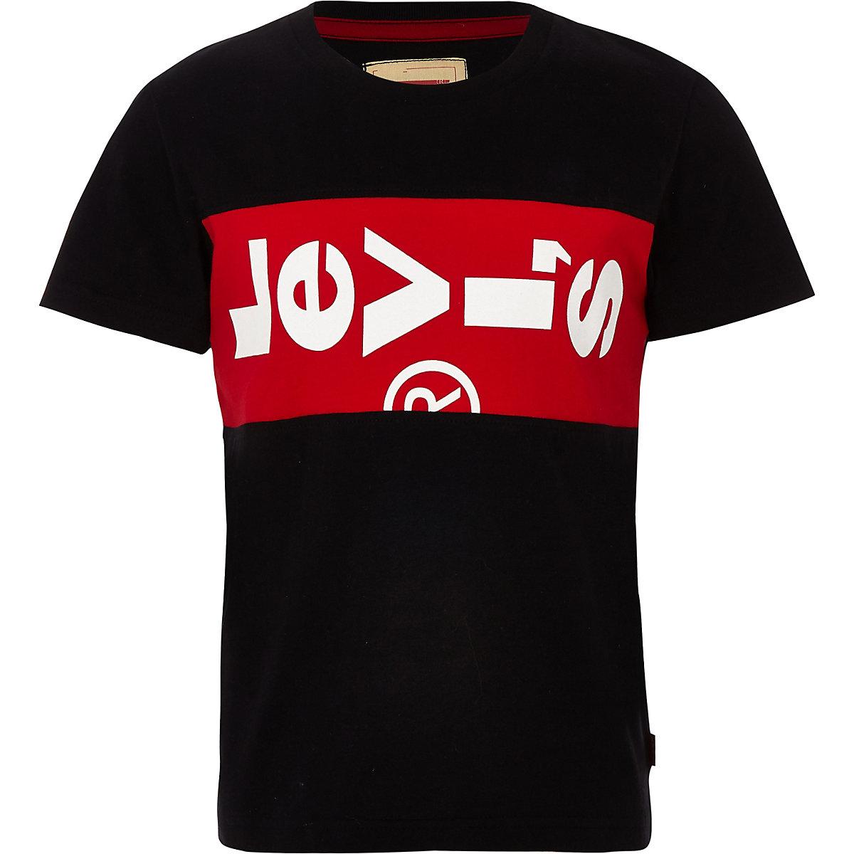 Boys Levi's black logo branded T-shirt