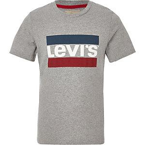 Levi's - Grijs T-shirt met logo voor jongens