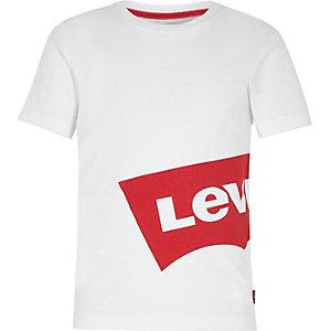 Levi's - Wit T-shirt met print opzij voor jongens