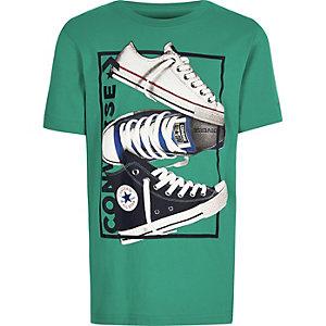 Converse – Grünes T-Shirt mit Print