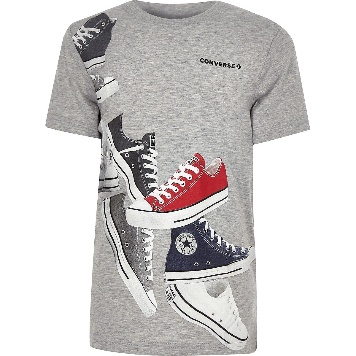 Boys Converse grey print T-shirt