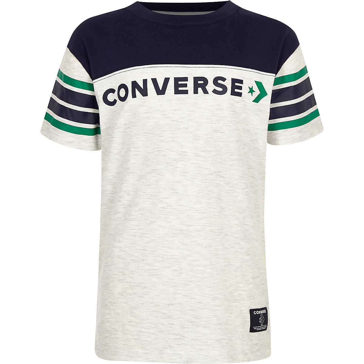 Boys white Converse block T-shirt