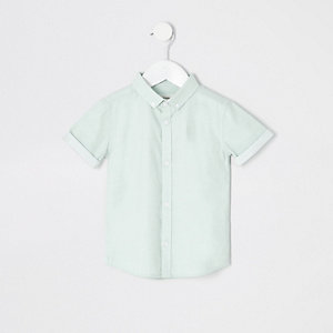 Mini boys green RI short sleeve shirt