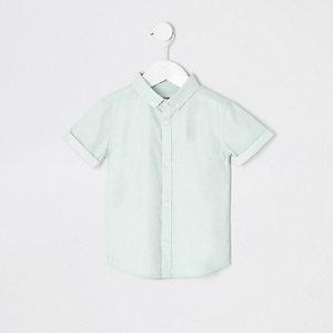 Mini - Groen RI overhemd met korte mouwen voor jongens
