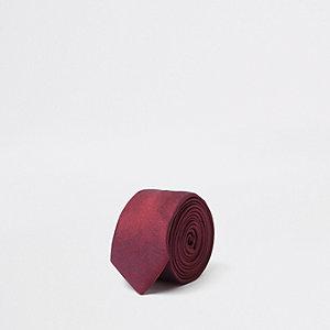 Cravate rouge à deux tons garçon