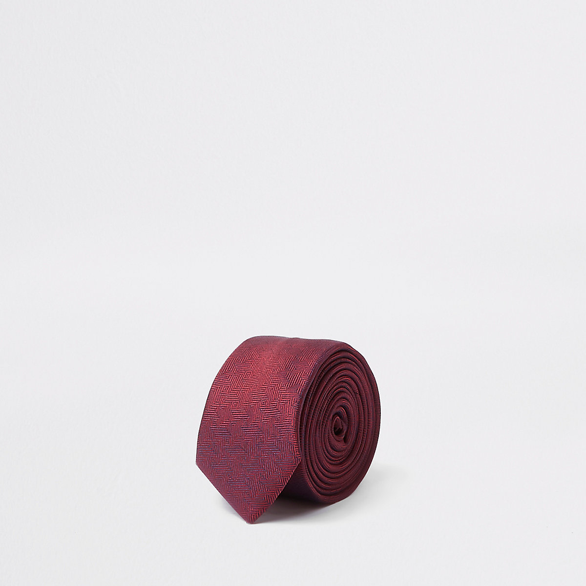Boys red two tone tie