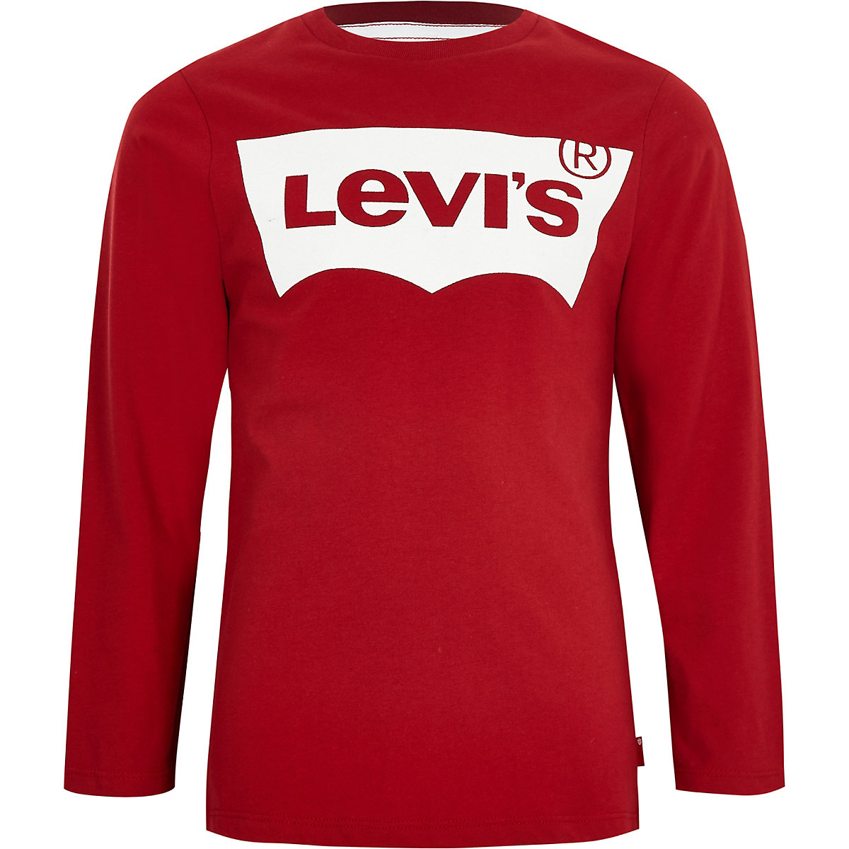 Boys Levi's red long sleeve T-shirt
