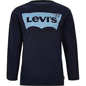 Levi's - Marineblauw T-shirt met lange mouwen voor jongens