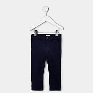Mini - Marineblauwe nette broek voor jongens