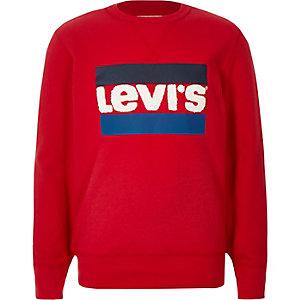 Levi's – Rotes Sweatshirt mit Logo