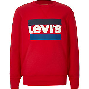 Boys Levi's red logo sweatshirt