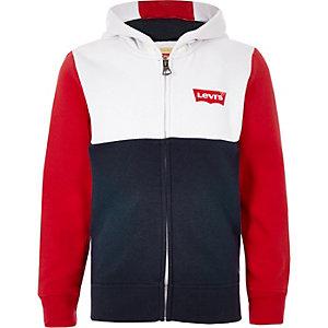 Boys Levi's navy color block hoodie