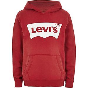 Levi's – Sweat à capuche rouge pour garçon
