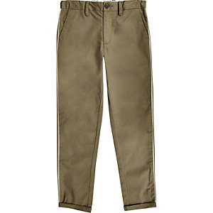 Boys khaki smart trousers