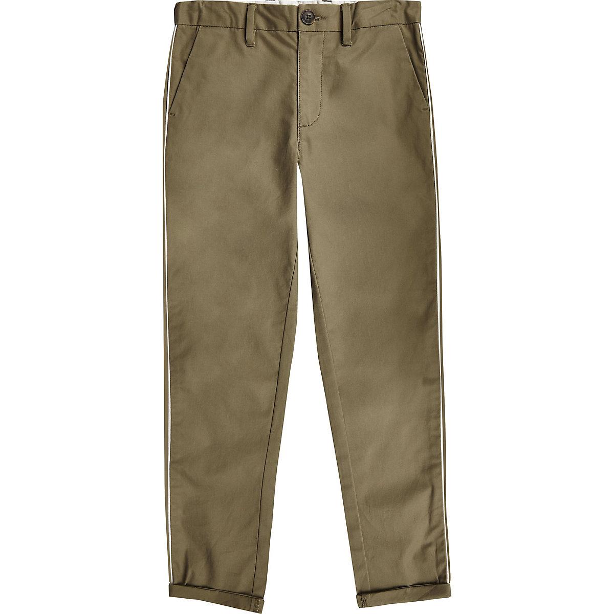 Boys khaki smart pants