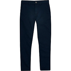 Boys navy smart pants