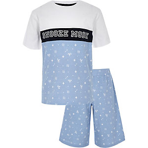 Boys blue 'Snooze mode' pajama set
