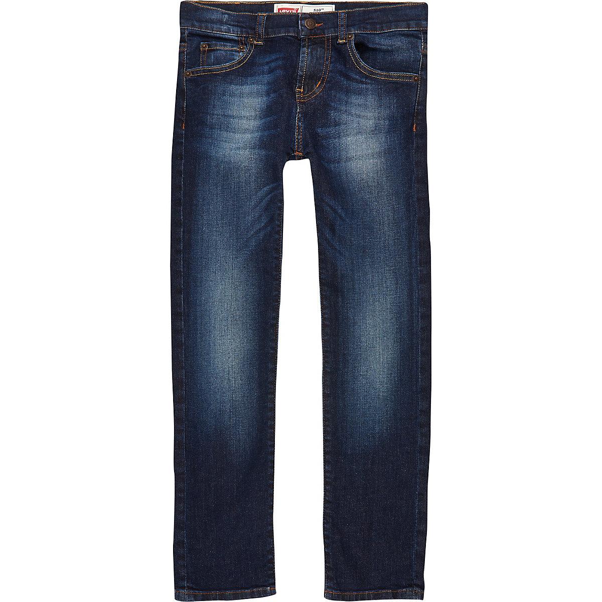 Boys dark blue Levi's skinny fit jeans