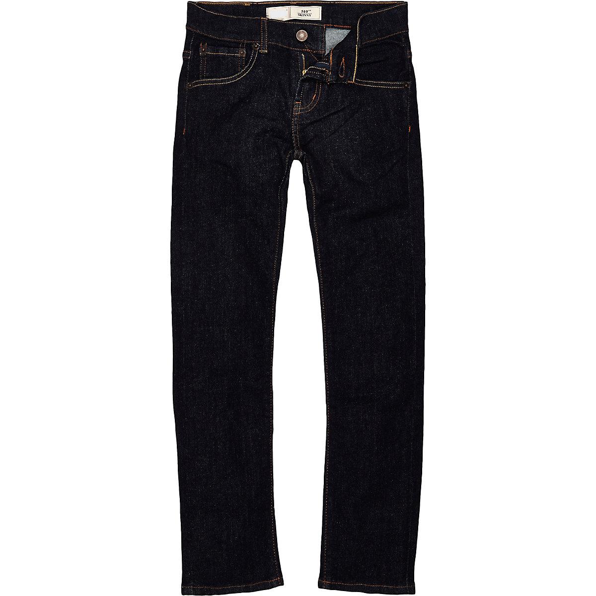 Boys Levi's black skinny denim jeans
