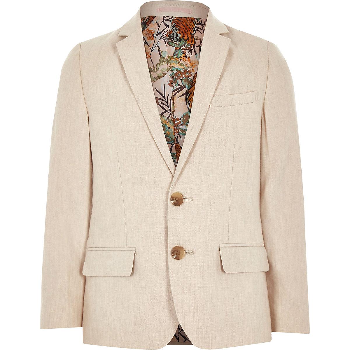 Boys cream linen suit blazer