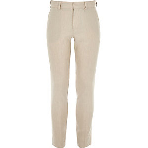 Boys ecru linen suit pants
