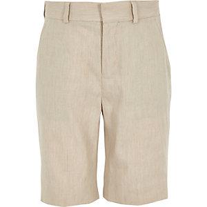 Ecru short van linnen voor jongens