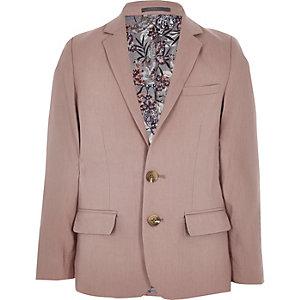 Blazer de costume en lin rose pour garçon