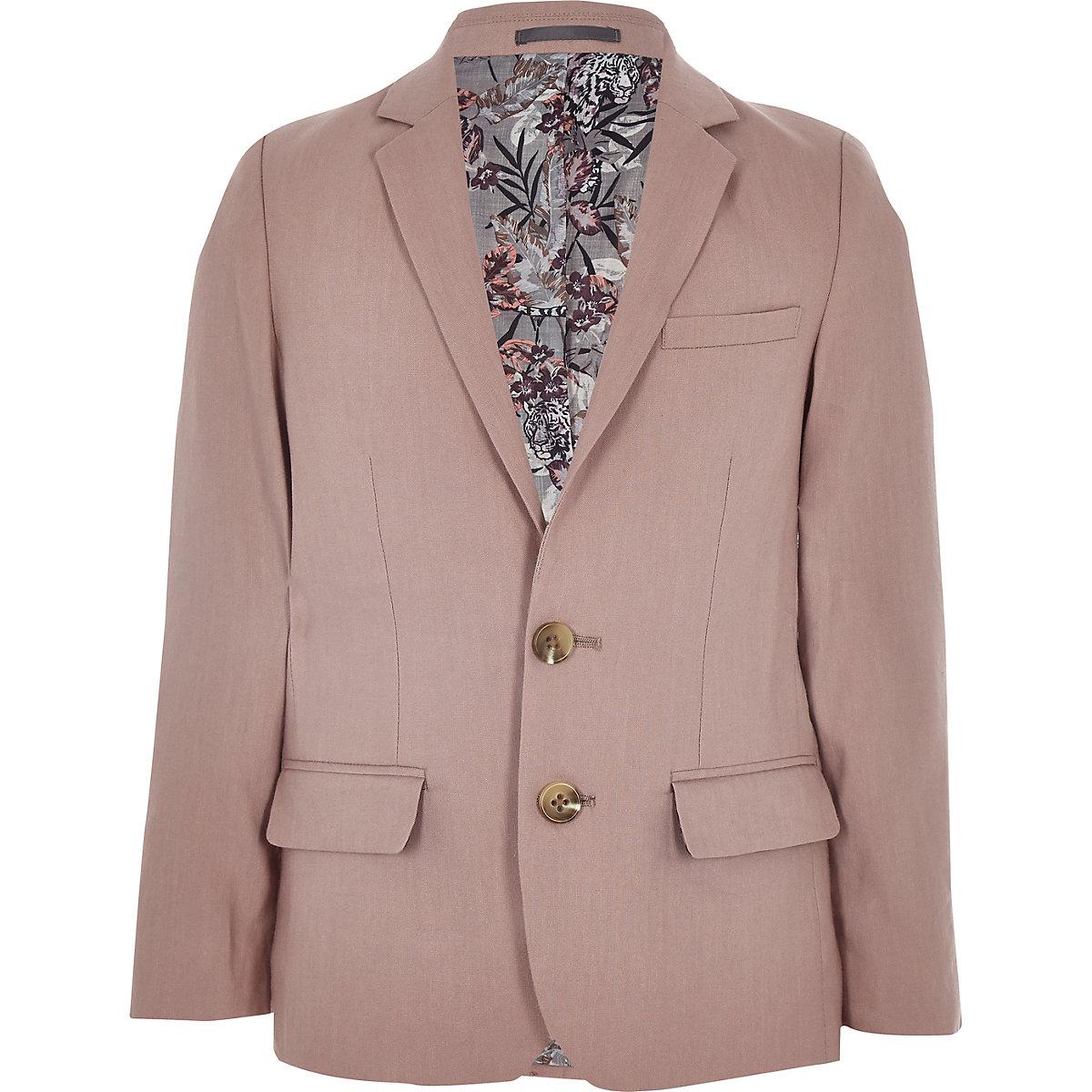 Boys pink linen suit blazer