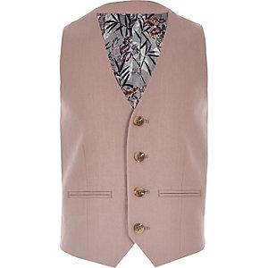 Gilet de costume en lin rose pour garçon