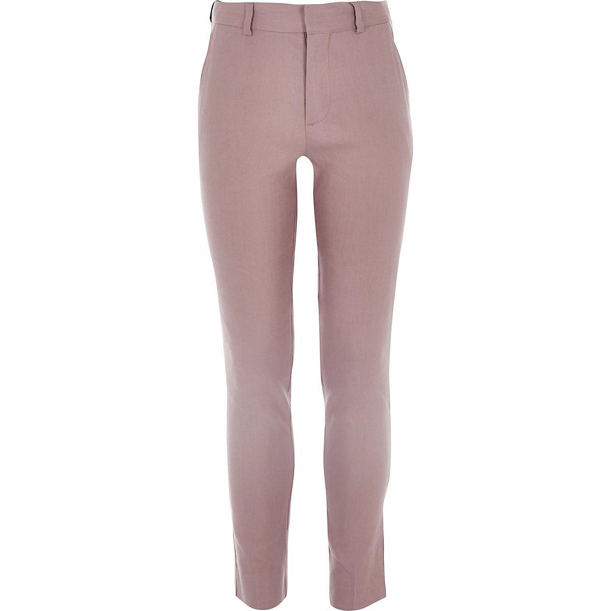 Boys pink linen suit trousers