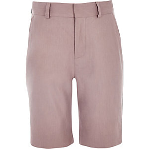 Boys pink linen suit shorts