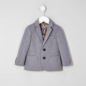 Mini boys grey floral lined blazer