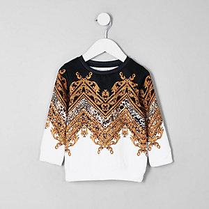 Weißes Barock-Sweatshirt