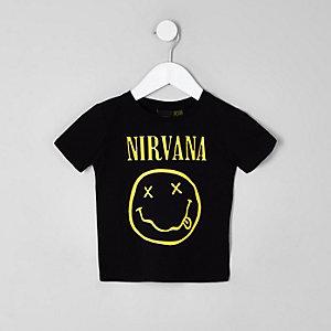 Mini - Zwart T-shirt met 'Nirvana'-print voor jongens