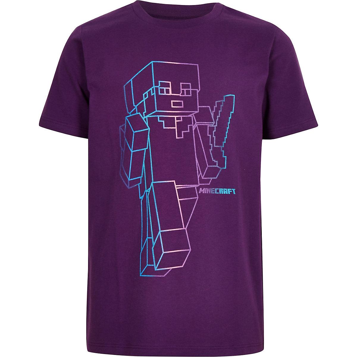 Boys purple Minecraft T-shirt