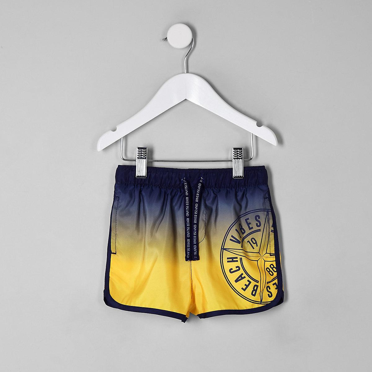 Mini boys ombre runner swim trunks