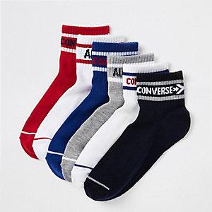 Converse – Blaue Socken mit Logo, Set