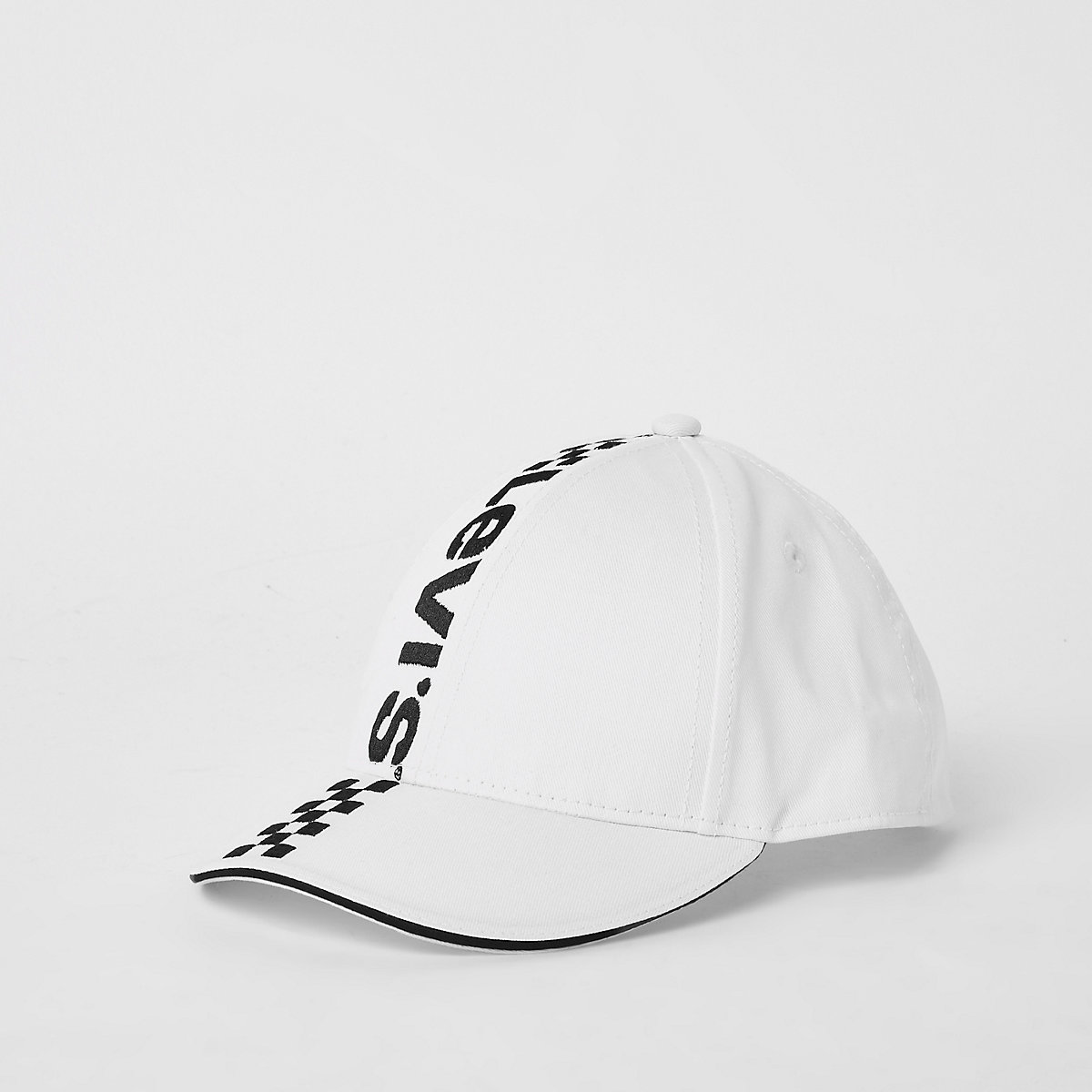 Kids white Levi's mono racing cap