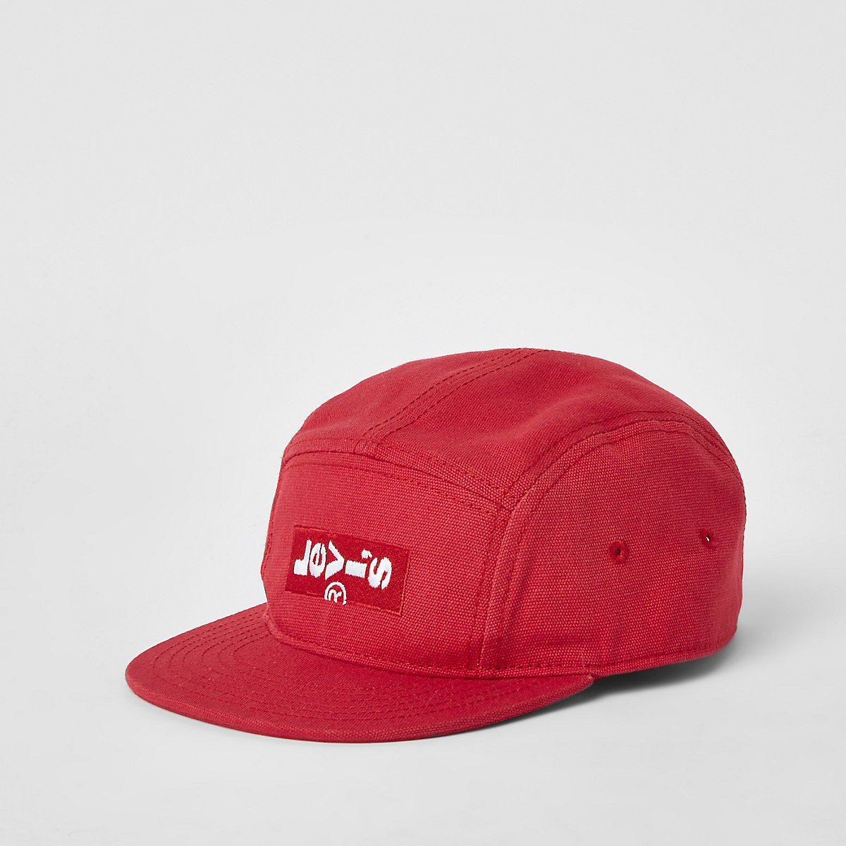 Boys red Levi's logo cap