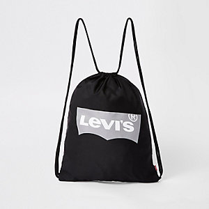 Kids black Levi's drawstring bag