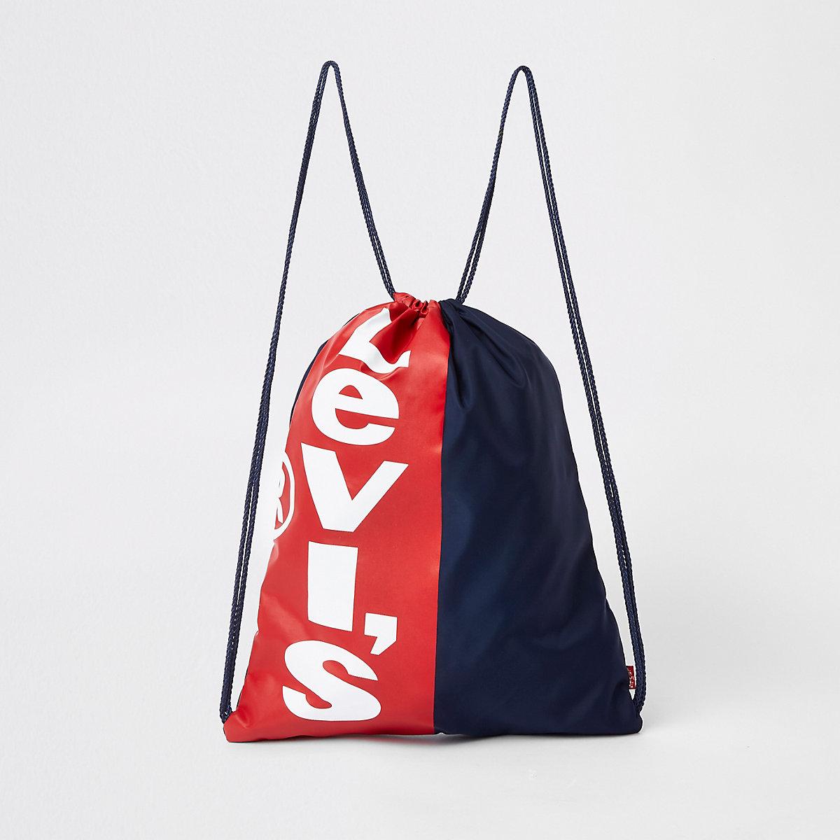 Kids Levi's navy drawstring bag